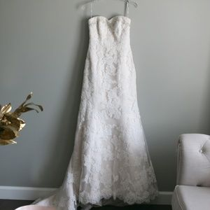 Maggie Sottero champagne ivory lace wedding dress